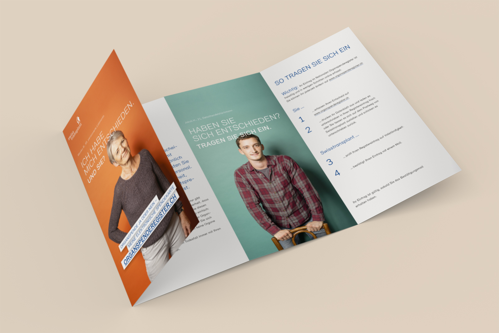 Swisstransplant, Kampagne, Flyer Design, Banner, Grafik Design, Grafik Design Bern